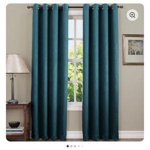 Wayfair Single Curtain Teal Panel - New (4)